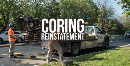 coring reinstatement truck